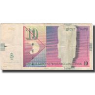 Billet, Macédoine, 10 Denari, 2001, KM:14c, TB+ - Macédoine