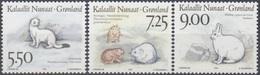 Greenland 1994 Mammals Michel 249-51 Unmounted Mint.MNH/** - Groenlandia