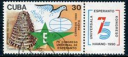 Y85 CUBA 1990 3370 75th Esperanto Congress, Havana - Cuba