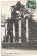 "Cachet Convoyeur ""Lyon A Belfort 1912"" Semeuse Indice=3 Frappe Superbe Luxe Cp Besançon Square - Postmark Collection (Covers)"