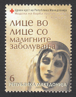 Macedonia 2007 Cancer Red Cross Croix Rouge Rotes Kreuz Tax Charity Surcharge, MNH - Macedonia