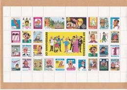 B01,0129 Belgique Feuille Bloc Vignettes 129      BD 50 Ans   Tintin Milou Hergé  2005-1-15 Kuifje Bobby   Tirage Oplaag - Full Sheets