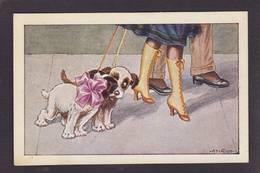 CPA Bertiglia Chien Dog Femme Girl Women érotisme Glamour Pin Up Non Circulé - Bertiglia, A.