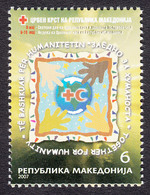 Macedonia 2007 Red Cross Croix Rouge Rotes Kreuz Tax Charity Surcharge, MNH - Macedonia
