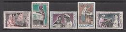 1967 Mauritania Mauritanie Women Weavers Textiles Complete Set Of 5  MLH - Mauritania (1960-...)