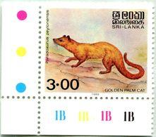 N° Yvert & Tellier 889 - Timbre Du Sri-Lanka (1989) - ** Neuf - Paradoxurus Zeylonensis - Sri Lanka (Ceylon) (1948-...)
