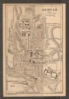 CARTE PLAN 1927 - NORMANDIE SAINT LO - HARAS NATIONAL HARAS DÉPOT D'ÉTALONS DÉPOT DE REMONTE BAINS DOUCHES - Cartes Topographiques
