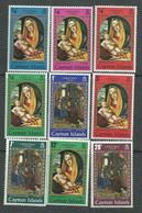 Iles Caïmanes N° 244 / 52 XX Noël : Tableaux La Série Des 9 Valeurs Sans Charnière,  TB - Iles Caïmans