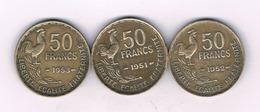 50 FRANCS X3 FRANKRIJK /4105/ - Francia