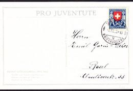 1925  Juventute Serie Auf 5 Juventute Karten Gelaufen. Ernst Stückelberg. 1 Karte Rechts Unten Leichter Fleck. - Covers & Documents