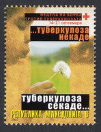 Macedonia 2007 TBC Red Cross Croix Rouge Rotes Kreuz Tax Charity Surcharge, MNH - Macedonia