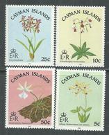 Iles Caïmanes N° 547 / 50 XX Flore : Orchidées Locale, La Série Des 4 Valeurs Sans Charnière,  TB - Iles Caïmans