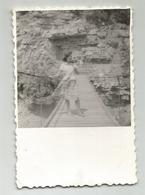 Woman On A Rope Bridge  D643-347 - Photographs