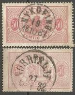 SUECIA SERVICIO 1874-1896 YVERT NUM. 10A Y 10B USADOS - Dienstpost