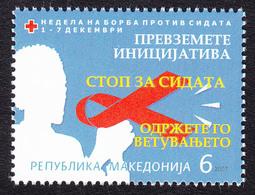Macedonia 2007 AIDS SIDA Red Cross Croix Rouge Rotes Kreuz Tax Charity Surcharge, MNH - Macedonia