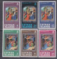 Iles Caïmanes N° 316 / 21 XX  Noël, La Série Des 6 Valeurs Sans Charnière,  TB - Cayman Islands