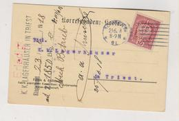 AUSTRIA 1918 WIEN Perfin FELTEN & GUILLEAUME. Postcard - Briefe U. Dokumente