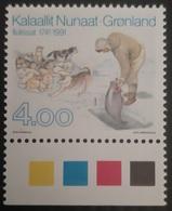 Greenland 1991 Huskies- Fishing  MiNr 219  Unmounted Mint.MNH/** - Groenlandia