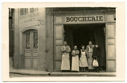 Boucherie ALBET - A Localiser  - Voir Scan - Postcards