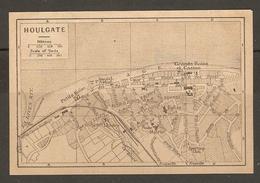 CARTE PLAN 1927 - NORMANDIE HOULGATE - PETITS BAINS GRANDS BAINS Et CASINO SPORTING CLUB TEMPLE - Cartes Topographiques