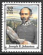 1995 Civil War Single, Joseph E. Johnston, Used - Vereinigte Staaten