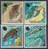 Iles Caïmanes N° 285 / 88 XX  Tortues, La Série Des 4 Valeurs Sans Charnière,  TB - Iles Caïmans
