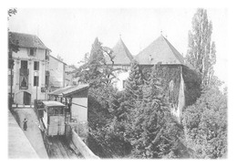 THONON-LES-BAINS - Le Château Et Station Du Funiculaire (reproduction) - Thonon-les-Bains