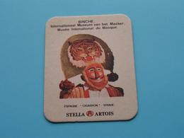 BINCHE Int. Museum Masker / Masque CIGARRON Espagne ( Sous Bock / Coaster / Onderlegger STELLA ARTOIS ) Voir Photo ! - Portavasos