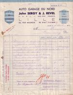 NORD - LILLE - AUTO GARAGE DU NORD - CAMIONS BERNARD - JOHN SERGY & J. REVEL - 1937 - Cars
