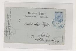 AUSTRIA 1898 AUSTRIA LEVANT Ship Cancel LLOYD AUSTRIACO LX Postal Stationery Part (only Front Side) - Briefe U. Dokumente