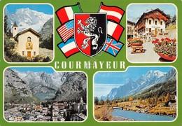Cartolina Courmayeur Vedute 1964 - Italy