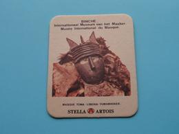 BINCHE Int. Museum Masker / Masque TOMA LIBERIA ( Sous Bock / Coaster / Onderlegger STELLA ARTOIS ) Zie / Voir Photo ! - Portavasos