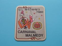 CARNAVAL MALMEDY 16-17-18-19 / 2 / 1980 ( Sous Bock / Coaster / Onderlegger STELLA ARTOIS ) Zie / Voir Photo ! - Portavasos