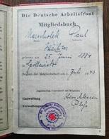 WW2 LIVRET FRONT DU TRAVAIL DAF DIE DEUTCHE ARBEITFRONT MITGLIEDSBUCH 1943 - 1939-45