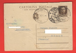 Portogruaro 1940 Distilleria Cartolina Commerciale 1940 Per Noale Venezia - Negozi
