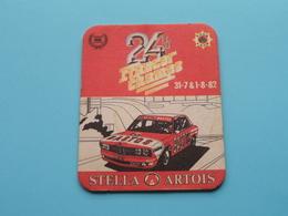 24 H/u FRANCORCHAMPS 31 / 7 & 1 / 8 / 1982 ( Sous Bock / Coaster / Onderlegger STELLA ARTOIS ) Zie / Voir Photo ! - Portavasos