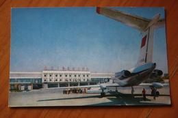 USSR Russia ASTRAKHAN  Airport Old Postcard  - PLANE - 1981 - RARE!!! - Aerodromi
