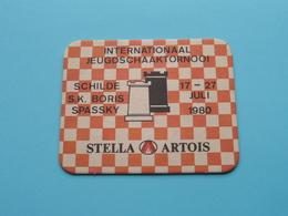 Int. JEUGDSCHAAKTORNOOI SCHILDE S.K. BORIS 1980 ( Sous Bock / Coaster / Onderlegger STELLA ARTOIS ) Zie / Voir Photo ! - Portavasos