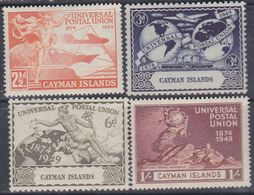 Iles Caïmanes N° 122 / 25 XX 75è Anniversaire  De L' U. P. U., Les 4 Valeurs Sans Charnière,  TB - Iles Caïmans