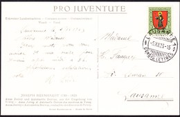 1923 Juventute Karte Mit Juventute Frankatur Gestempelt Lausanne. - Covers & Documents