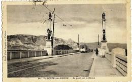 A3 Drome 26 VALENCE Le Tramvay De St Perray Sur Le Pont Du Rhône 1935 TBE - Valence