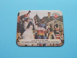 23e WERELDFESTIVAL Van FOLKLORE - SCHOTEN 1981 ( Sous Bock / Coaster / Onderlegger STELLA ARTOIS ) Zie / Voir Photo ! - Portavasos