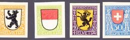 1924 Pro Juventute, Probedruck Serie Ungezähnt, Ohne Gummi Auf Kartonpapier. - Covers & Documents