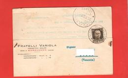 Cordovado Udine 1939 Cartolina Commerciale Molini VARIOLA Per Noale Venezia - Negozi