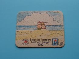 CARTOONS - KARTOENS Belge 1982 Knokke Heist WILLIAM LIEVENS ( Sous Bock / Coaster / Onderlegger STELLA ARTOIS ) ! - Portavasos