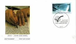 Germany  , 2003 , Bible Year  FDC , Bonn Postmark - Christianity