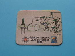 CARTOONS - KARTOENS Belge 1982 Knokke Heist PIRANA ( Sous Bock / Coaster / Onderlegger STELLA ARTOIS ) ! - Portavasos