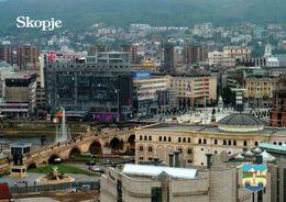 1 Ak Nordmazedonien * Blick Auf Skopje - Die Hauptstadt Von Nordmazedonien - Luftbildaufnahme * - Macedonia