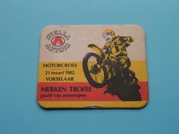 MOTORCROSS 21 Maart 1982 VORSELAAR Merken Trofee G.V.Antwerpen ( Sous Bock / Coaster / Onderlegger STELLA ARTOIS ) ! - Portavasos