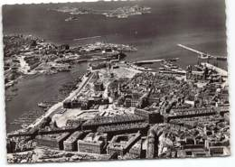 MARSEILLE -  Vue Aerienne - Les Iles  Chateau D'If  Et  La Sortie Du Vieux Port   .   CPSM GF Edit Greff - Marseille